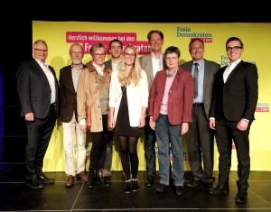 Mitglieder der nordfriesischen FDP auf dem Sommerfest der FDP SH