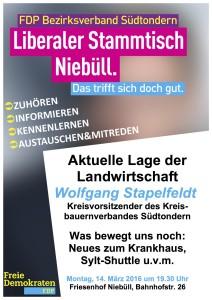 Plakat 14.03.2016 Liberaler Stammtisch